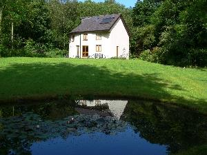 Henllys Lodge from pond at bottom of garden