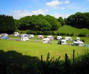 Simple Twin Unit Caravan Siting Emstrey Shrewsbury