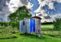 The Shepherds Hut in the meadow