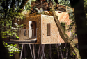 The Woodsman's treehouse at Crafty Camping