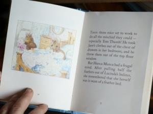 Beatrix Potter by the fire