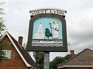 The West Lynn village sign