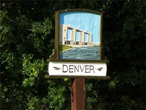 The Denver village sign (the sluice side)
