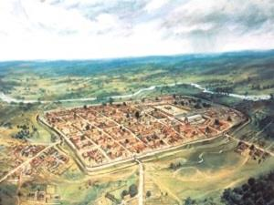 Roman Colchester depiction by Peter Froste