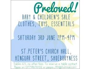 Preloved! Baby and Toddler Nearly New Sale