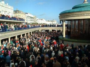 Chistmas Day at the Bandstand