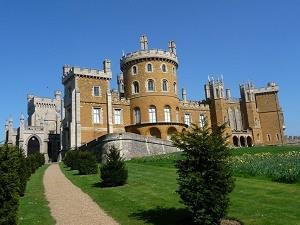 Belvoir Castle in the sun