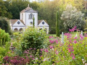 Summer garden at Bodnant Garden, North Wales