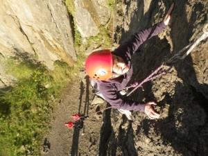 Climbing and Abseiling with Hawk Adventures