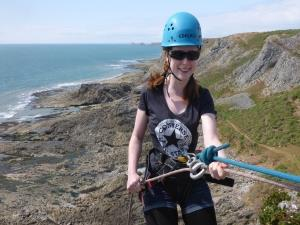 Abseiling in South Wales