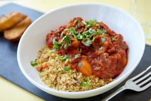 Moroccan-style Welsh lamb with cous-cous