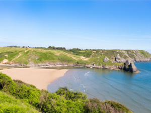 Three Cliffs Bay Beach