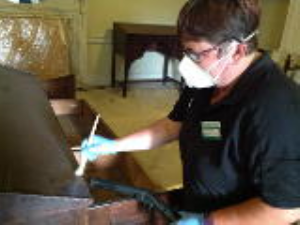 Cleaning historic cabinets