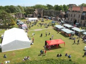 A food festival, in a castle!