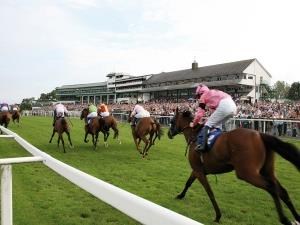 Flat racing action at Chepstow