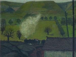 Coal Train in the Rhondda by Charles Burton