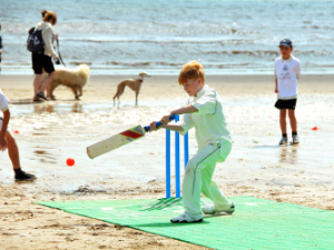 Beach Cricket at Bridlington