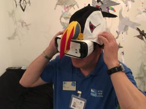Virtual reality headsets at RSPB Bempton Cliffs