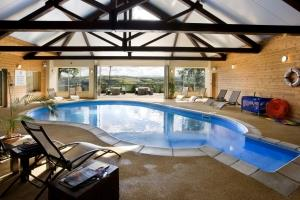 The indoor heated pool at Clydey Cottages
