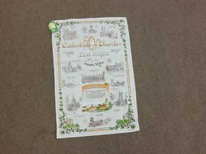 East Anglian Cathedrals and Chruches tea towel