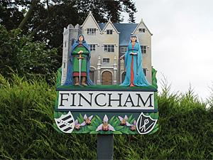The Fincham village sign