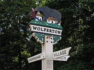 The village sign