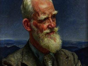 George Bernard Shaw by Laura Knight