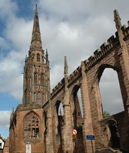 St Michael's Tower at Coventry Cathedral