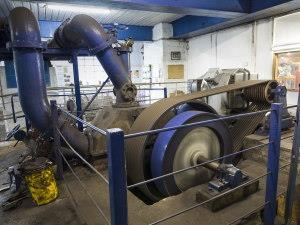 Turbine at Trefriw Woollen Mills