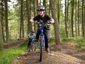Children mountain biking at Garwnant