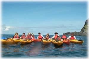 Sea kayak guided trip