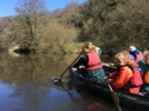 Family canoe trip - River Teifi