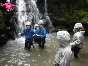 Gorge scrambling experience near Abergavenny