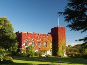 Fonmon Castle in the autumn