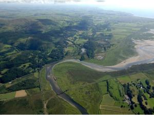Aerial view of RSPB Ynys-hir reserve