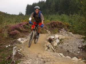Mountain biking on Marin Trail Gwydir Forest
