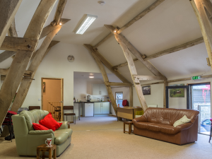 Cruck Barn Meeting room with kitchen area