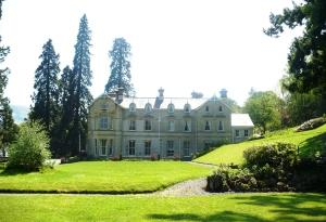 Broneirion house from the lawns