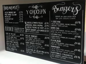 A delicious all day menu at Y Crochan cafe
