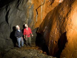 "The ""Orange Waterfall"" in Corris Mine Explorers"