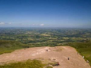 View from top of Pen y Fan