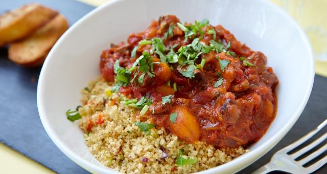 Welsh Lamb Tagine with cous cous, a specials dish