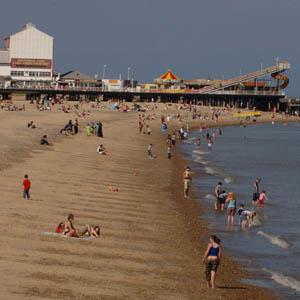 Central Beach towards Britannia Pier