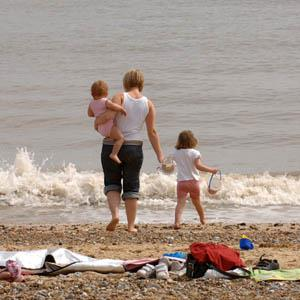 Family on Caister Beach