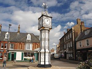 The famous Downham Market town clock
