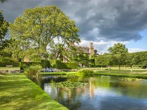 The lily pond at Bateman's, East Sussex.
