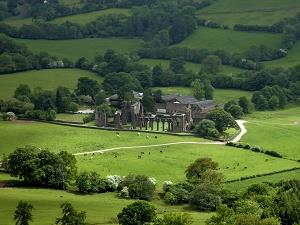Looking over Llanthony Priory
