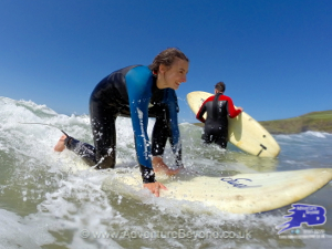 Surfing West Wales