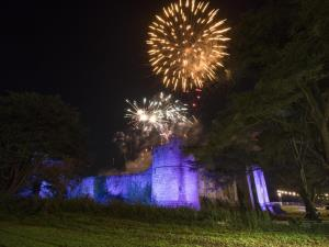 Fireworks at Caldicot Castle