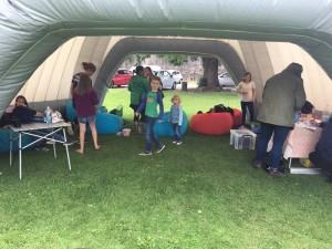 Pop Up Youth Service Tent